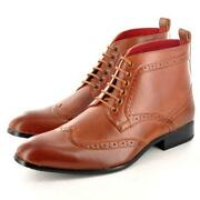 Mens Brown Brogue Boots