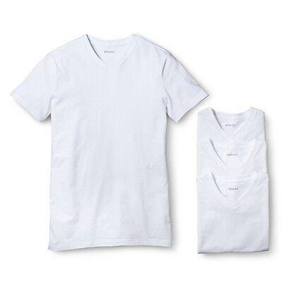 Merona® Men's 4-pack White V- Neck Undershirts