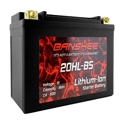 YTX20L-BS Lithium ion Motorcycle Battery - Flush Battery Terminals for Best (Best Lithium Ion Battery)