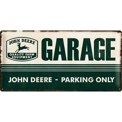 Blechschild 27013 - John Deere Garage - Parking Only - 25 X 50 cm -Neu (John Deere Parking)