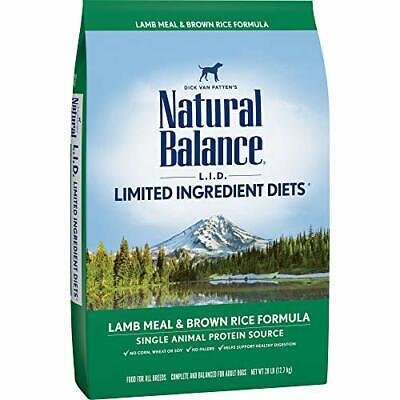 Natural Balance L.I.D. Limited Ingredient 28 Lb. Bag Lamb Meal & Brown Rice