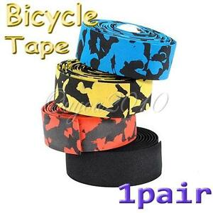 2-X-Bike-Bicycle-Cycle-Cork-Handlebar-Handle-Bar-Tape-Wrap-2-Bar-Plug-5-Color