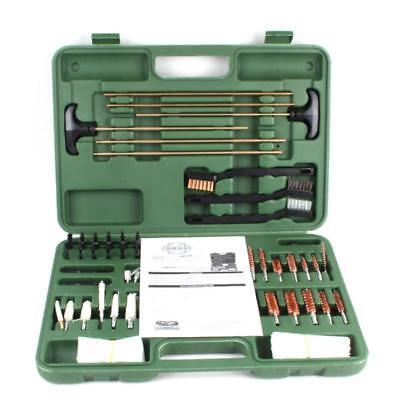 Gun Cleaning Kit All Guns Rifle Pistol Handgun Shotgun Full Brass Rods 62 Piece