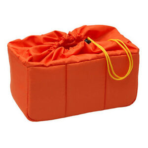 NEW-HORUSBENNU-HD-331916-Orange-Camera-Lens-Insert-Partition-Padded-Bag-Case
