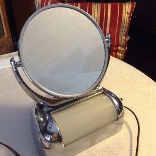 Vintage Lighted Makeup Mirror Ebay