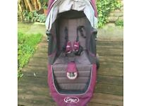 Baby Jogger City Mini Purple Stroller with handle bag