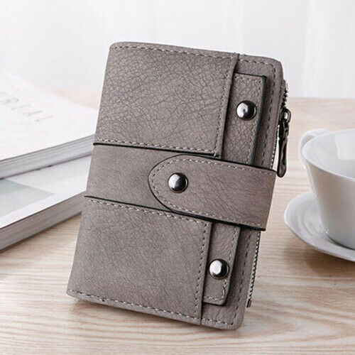 Women Leather Wallet ID Credit Card Holder Clutch Bifold Pocket Zipper Purse US Clothing, Shoes & Accessories