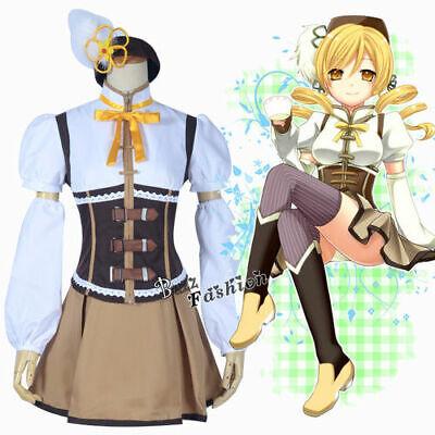 Puella Magi Kleid Bluse Rock + Zubehör Madoka Magica Mami Tomoe Cosplay - Madoka Magica Cosplay Kostüm