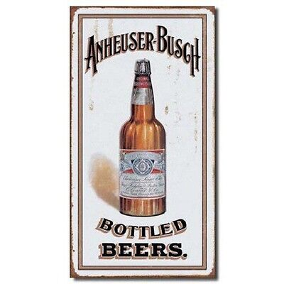 Anheuser Busch Bud Bottled Beers Vintage Retro Style Metal Tin Sign 8X16 New