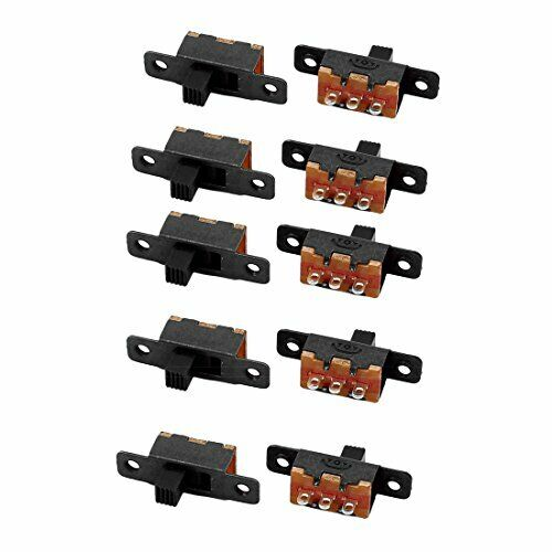 uxcell 10Pcs SS-12F16 2 Position 3P SPDT Micro Miniature Slide Switch Latching T
