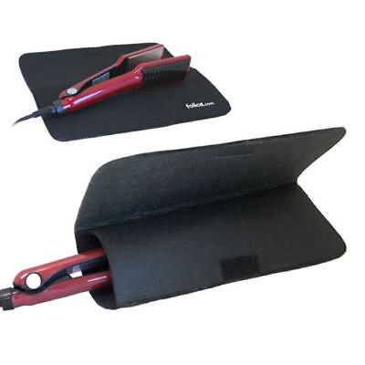 Extreme Heat Protection Hair Straightener Mat Safety Tongs Resistant Cover Case, used for sale  Shipping to Canada