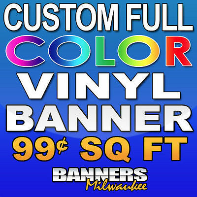 3'x20' Custom Full Color Vinyl Banner - Free Shipping
