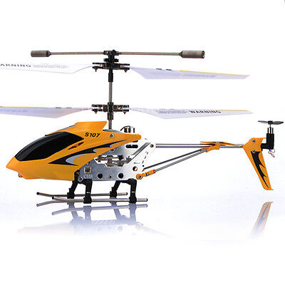 Genuine SYMA S107G 3.5CH GYRO 3 Channel Mini Remote Control RC Helicopter Yellow on Rummage