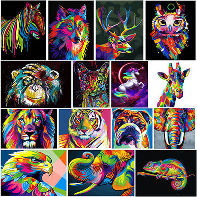 Colorful Animals DIY 5D Diamond Painting Embroidery Cross Stitch Craft Art Decor