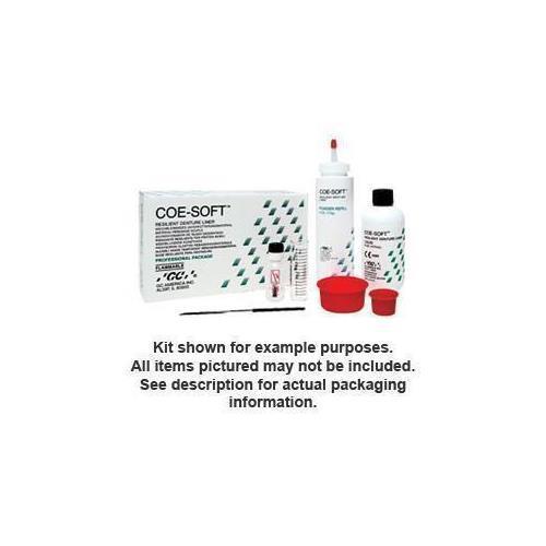 GC 344011 COE-Soft Denture Resin Self Cure Powder & Liquid Package 5.5 Oz