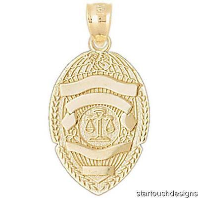 New 14k Gold Scales of Justice Badge Pendant 14k Gold Scales