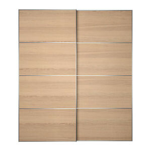Stunning Ikea Oak Pax Wardrobes With Sliding Doors 2m Wide Tall Parkville Melbourne City Preview
