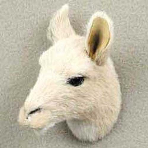 ONE LLAMA HEAD-FUR LIKE ANIMAL Magnets .ANY PROFIT GOES TO OUR ABANDON PETS~