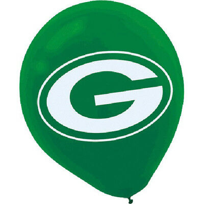 NFL GREEN BAY PACKERS LATEX BALLOONS (6) ~ Birthday Party Supplies Helium Decor (Green Bay Packers Party Decorations)