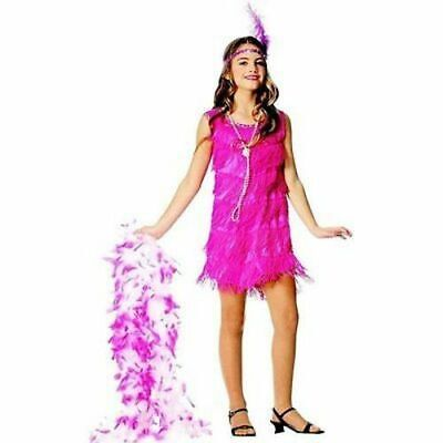 Flapper Child Costume Hot Pink Costumes (Size: Small 4-6, M (8-10) - - Flapper Girls Costumes
