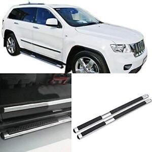 Silver Step Boards / Nerf Bars for Jeep Grand Cherokee 2011-2018