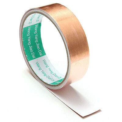 New 1x10ft Copper Foil Tape Single Conductive Self Adhesive Shielding Barrier
