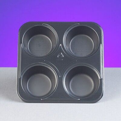 Genpak 55304 Bake N Show Dual Ovenable 4 Cup Muffin Pan Durable- 250 Case