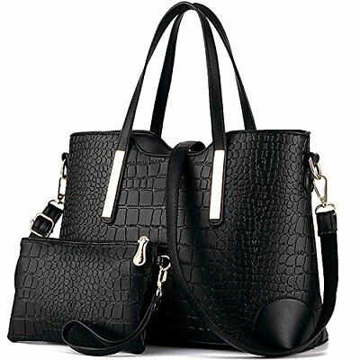 Satchel Purses and Handbags for Women Shoulder Tote Bags Wallets 1 Black