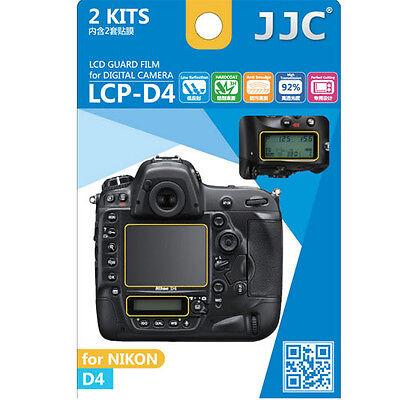 JJC LCP-D4 ultra hard polycarbonate LCD Film Screen Protector NIKON D4 D-4  2PK