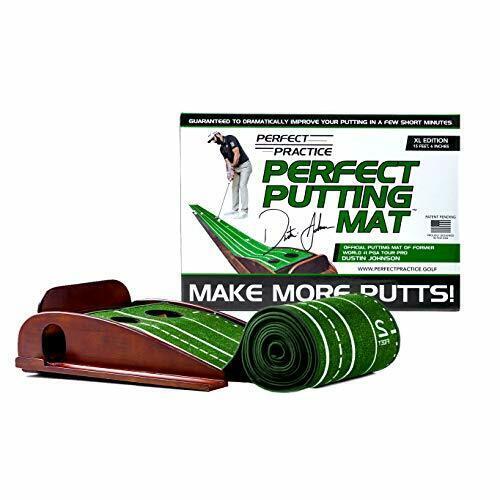Perfect Practice Golf Putting Green Mat of PGA Dustin Johnson XL EDITION 15