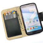 Leather Wallet Case for Samsung Galaxy Note II