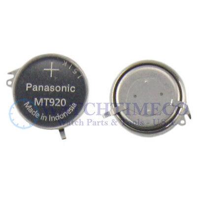 Panasonic MT920 Battery Capacitor Seiko Kinetic 5M82 5M83 5M84 5M85 7L22