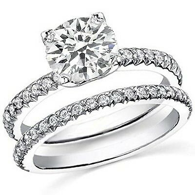 3.72 Ct Round Cut Diamond Engagement Set  GIA Certified