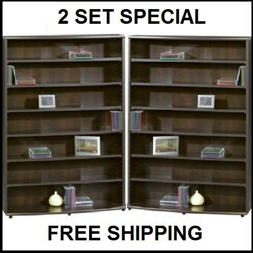 Multimedia DVD Tower CD Rack Shelf Storage Cabinet Organizer