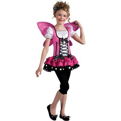 NEW Girls Pink Butterfly Fancy Costume Dress Up Childs Fairy Mariposa Tu Barbie](Mariposa Barbie Costume)