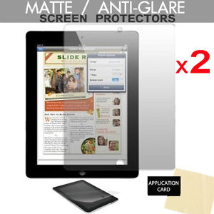 2 pack of ANTI-GLARE MATTE Screen Protector Guards for Apple iPad 4 3 2 Gen