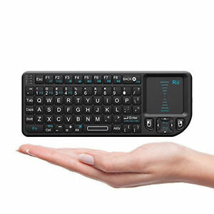 a0f27648dc6 Rii Mini Wireless 2.4GHz Keyboard with Mouse Touchpad Remote Control - Black