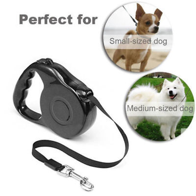 Durable Retractable Dog Leash Medium Large Dogs Reflective Tool Black US