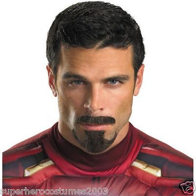 Avengers Iron Man Tony Stark Facial Hair Costume Prop Accessory Marvel Comics