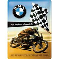 Bmw For The Highest Demands Metal Tin Plate Sign Tin Sign 30 X 40 Cm - bmw - ebay.co.uk