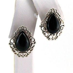 Vintage Black Onyx Earrings