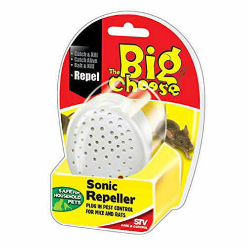 The Big Cheese Sonic Repeller Plug in Pest Control For Mice & Rats STV726