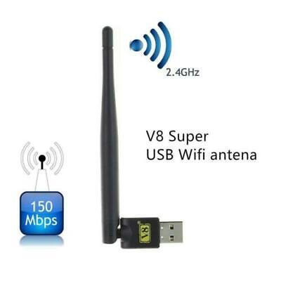 Adaptador WiFi 150Mbps para PC o Portatil con antena, receptor USB wireless...