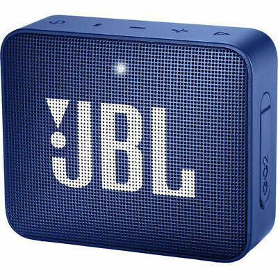 JBL GO 2 Portable Bluetooth Waterproof Speaker Blue (JBLGO2BLUAM)