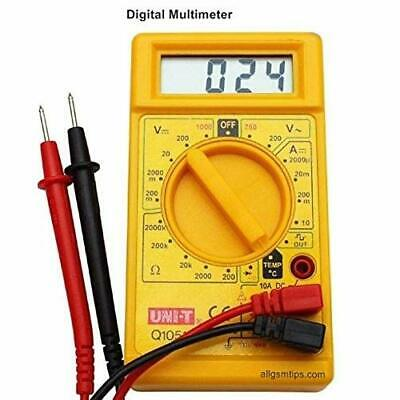 Digital Multi Meter Small Yellow Color Lcd Ac Dc Measuring Voltage Current