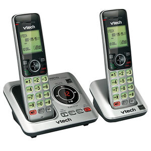 VTech-CORDLESS-TELEPHONE-2-SET-DIGITAL-DECT-6-0-PHONES