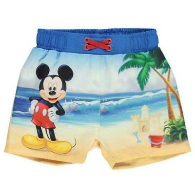 DISNEY Micky Maus Badehose Schwimmhose Badeshort Größe 62 68 Mickey Baby Junge