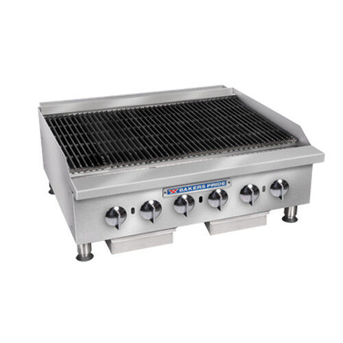 "Bakers Pride Bphcb-2448i Gas 48"" Heavy Duty Countertop Charbroiler"