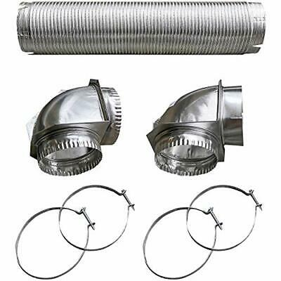 Builder's Best 110050 Semi-rigid Dryer Vent Kit With Close