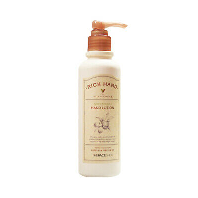 [THE FACE SHOP] Rich Hand V Soft Touch Hand Lotion - 200ml / Free Gift